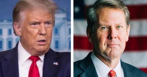 President Trump Calls For Georgia Governor Brian Kemp to Resign