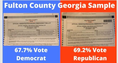 RAFFENSPERGER GETS CAUGHT: Georgia Ballots Were Printed DIFFERENTLY for GOP Areas vs. DEM Areas — Election Was Rigged!