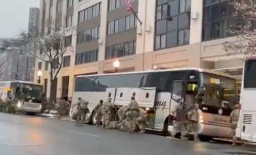 Regime Fears the People: Bus Loads of National Guard Still Arriving in DC (VIDEO)