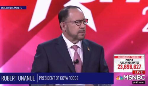 "CPAC SUNDAY: Goya Foods CEO Robert Unanue Declares Trump the ""Legitimate and Still Actual President"" (VIDEO)"