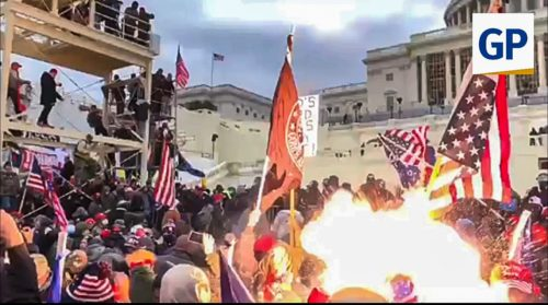 HORROR! EXCLUSIVE VIDEO — CAPITOL POLICE FIRED EXPLODING FLASH GRENADE INTO CROWD on Jan. 6 — Explosion Fired into Crowd of Men, Women and Children!