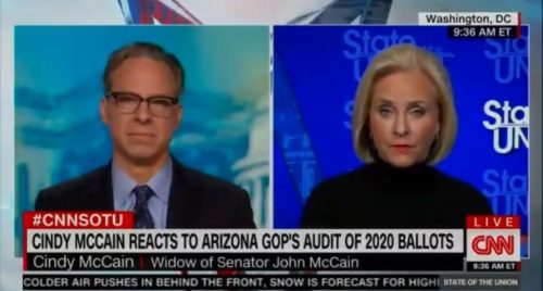 """""""The Election is Over"""" – Trump Hater Cindy McCain Trashes Arizona Election Audit, """"Ludicrous"""" (VIDEO)"""
