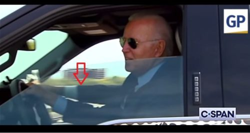 WOW! Biden Caught Fake Driving — Someone Else Is Steering Vehicle — It Was All a Stunt! — VIDEO and PICS