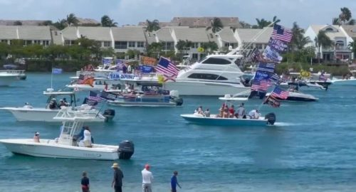 Massive MAGA Memorial Day Boat Parade Underway in Jupiter, Florida – Trump Thanks His Supporters! (VIDEO)