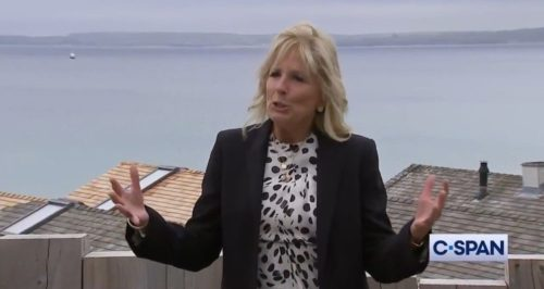 Jill Biden Throws Shade at Melania Trump with Tacky Message on Back of Her Jacket (VIDEO)