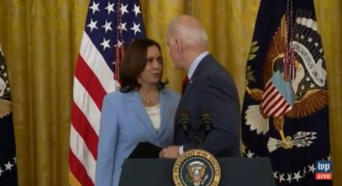 Joe Biden Laughs Awkwardly After Kamala Harris Has to Remind Him to Address Tragic Collapse of Condo in Florida (VIDEO)